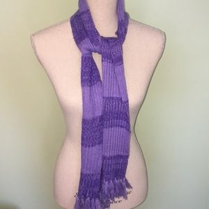 Knit Purple Scarf